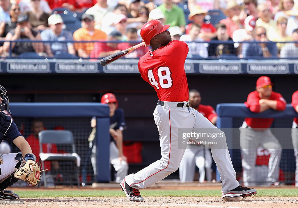 3a119cce480 ... Torii Hunter 48 of the Los Angeles Angels of Anaheim hits a solo home  run ...