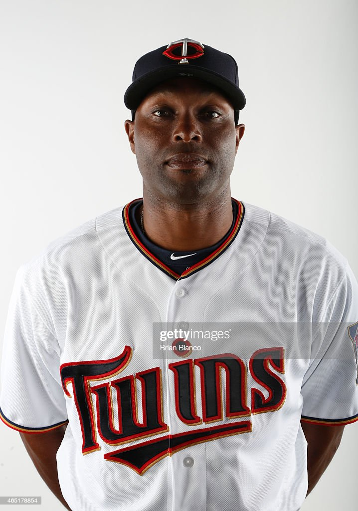 <a gi-track='captionPersonalityLinkClicked' href=/galleries/search?phrase=Torii+Hunter&family=editorial&specificpeople=183408 ng-click='$event.stopPropagation()'>Torii Hunter</a> #48 of the Minnesota Twins poses for a photo during the Twins' photo day on March 3, 2015 at Hammond Stadium in Fort Myers, Florida.