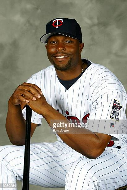 Torii Hunter of the Minnesota Twins poses for portrait on March 1 2004 at the Twins spring training complex in Fort Myers Florida