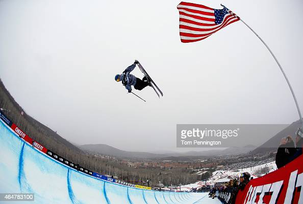 Torin YaterWallace competes during the FIS Freeskiing World Cup 2015 Men's Freeskiing Halfpipe Final during the US Grand Prix at Park City Mountain...
