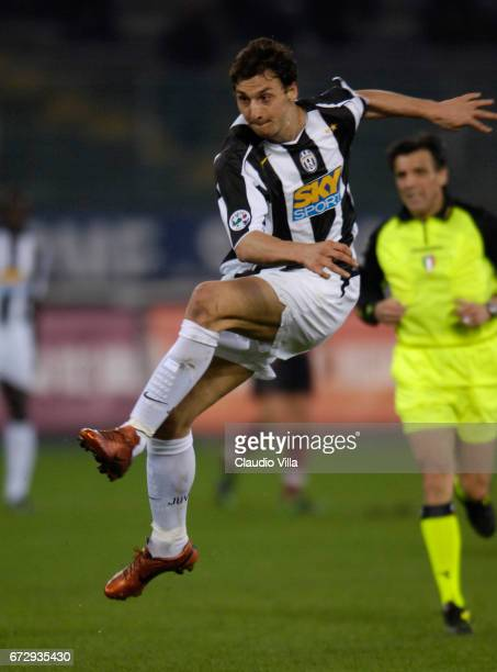 Zlatan Ibrahimovic of Juventus in action during the Serie A 29th round match between Juventus of Turin vs Reggina played at the 'Delle Alpii' stadium...