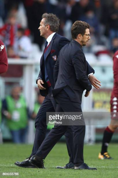 Torino coach Sinisa Mihajlovic and Roma coach Eusebio Di Francesco after the Serie A football match n9 TORINO ROMA on at the Stadio Olimpico Grande...