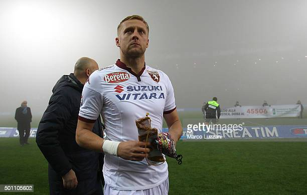 Torino FC captain Kamil Glik looks on before the Serie A match betweeen US Sassuolo Calcio and Torino FC suspended because of fog at Mapei Stadium...