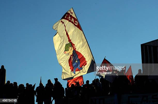Torino FC fans shows their support during the Serie A match between Udinese Calcio and Torino FC at Stadio Friuli on December 15 2013 in Udine Italy