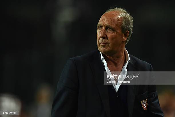 Torino FC head coach Giampiero Ventura looks on at the end of the Serie A match between Torino FC and AC Cesena at Stadio Olimpico di Torino on May...