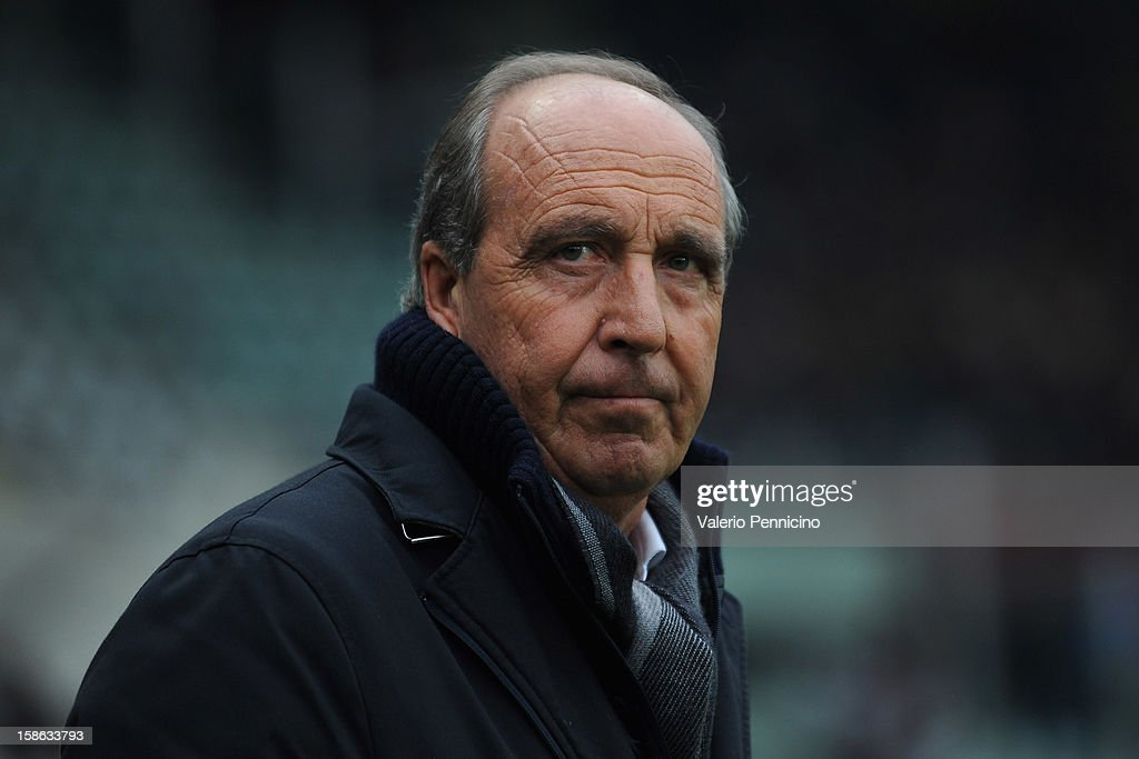 Torino FC head coach Giampiero Ventura looks on during the Serie A match between Torino FC and AC Chievo Verona at Stadio Olimpico di Torino on December 22, 2012 in Turin, Italy.