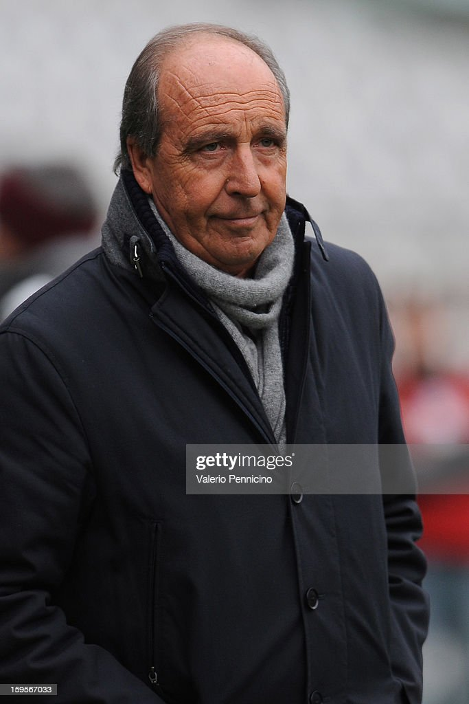 Torino FC head coach Giampiero Ventura looks on during the Serie A match between Torino FC and AC Siena at Stadio Olimpico di Torino on January 13, 2013 in Turin, Italy.