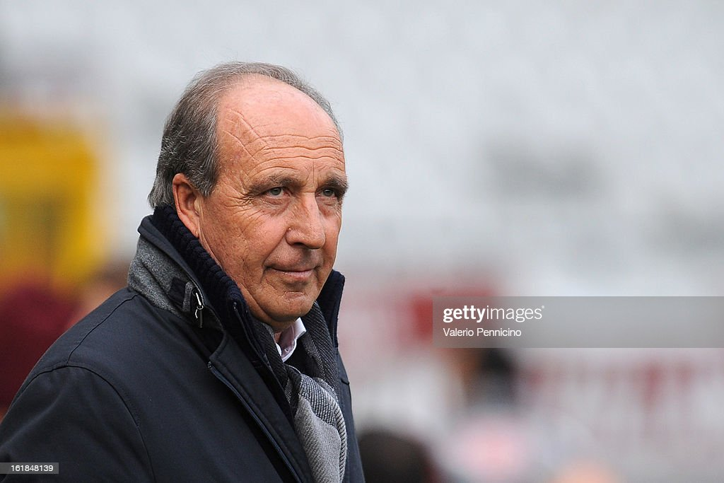 Torino FC head coach Giampiero Ventura looks on during the Serie A match between Torino FC and Atalanta BC at Stadio Olimpico di Torino on February 17, 2013 in Turin, Italy.