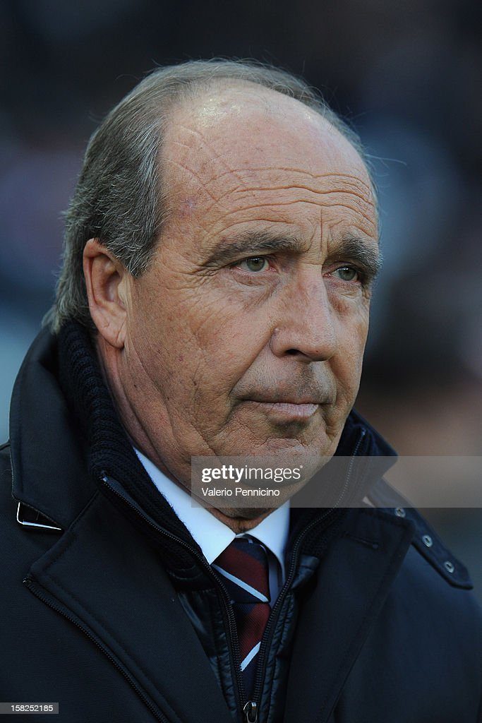 Torino FC head coach Giampiero Ventura looks on prior to the Serie A match between Torino FC and AC Milan at Stadio Olimpico di Torino on December 9, 2012 in Turin, Italy.