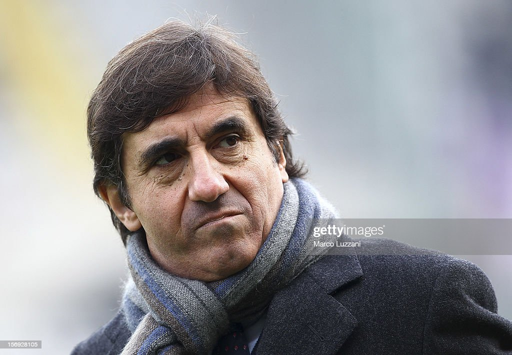 Torino FC President Urbano Cairo looks on before the Serie A match between Torino FC and ACF Fiorentina at Stadio Olimpico di Torino on November 25, 2012 in Turin, Italy.