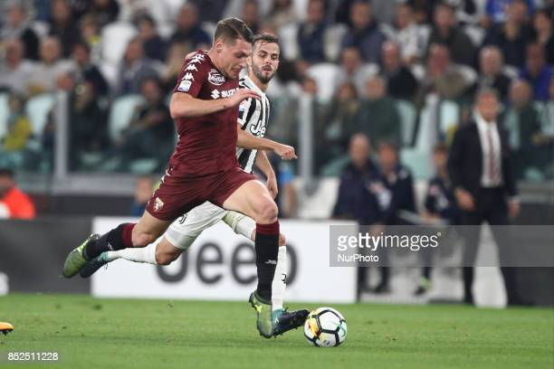 Torino forward Andrea Belotti in action during the Serie A football match n6 JUVENTUS TORINO on at the Allianz Stadium in Turin Italy Copyright 2000...