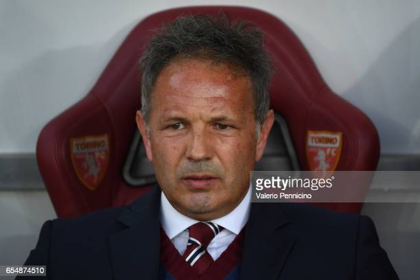 Torino head coach Sinisa Mihajlovic looks on during the Serie A match between FC Torino and FC Internazionale at Stadio Olimpico di Torino on March...