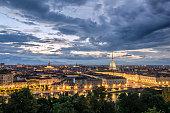 Torino panorama at twilight