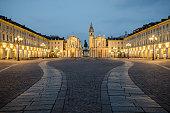 Torino Piazza San Carlo at twilight