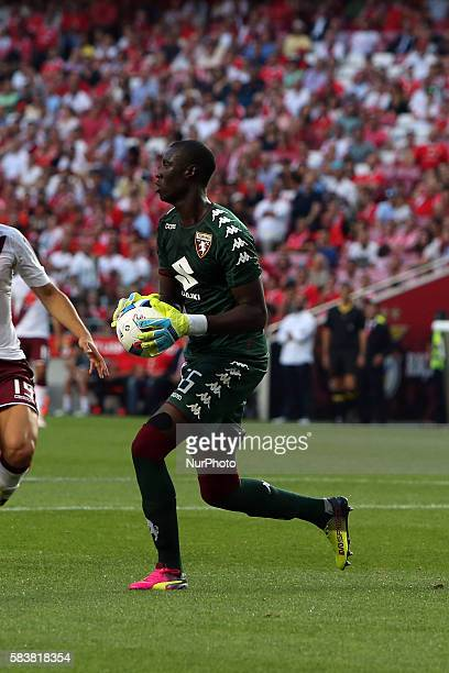 Torino's goalkeeper Alfred Gomis in action during the Eusebio Cup football match between SL Benfica and Torino FC at the Luz stadium in Lisbon...