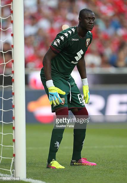 Torino's goalkeeper Alfred Gomis in action during the Eusebio Cup match between SL Benfica and Torino at Estadio da Luz on July 27 2016 in Lisbon...