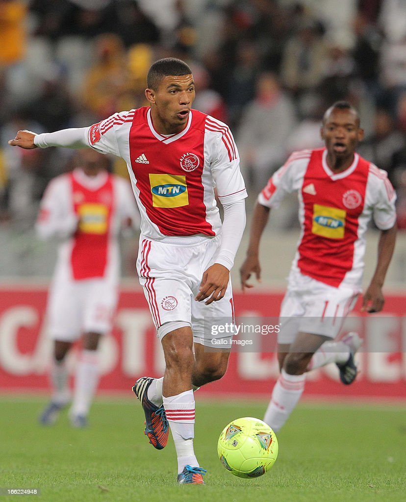 Toriq Losper of Ajax CT during the Absa Premiership match between Ajax Cape Town and Orlando Pirates from Cape Town Stadium on April 10, 2013 in Cape Town, South Africa.