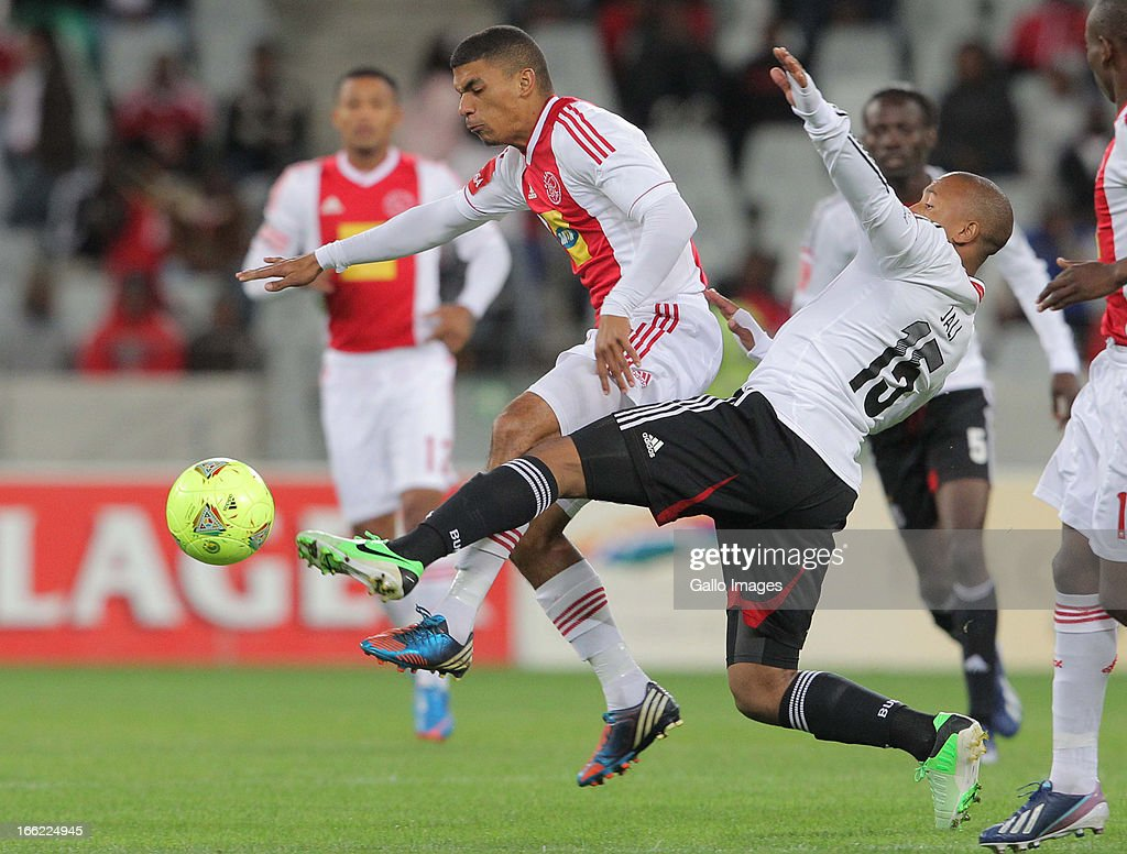 Toriq Losper of Ajax CT of Ajax CT during the Absa Premiership match between Ajax Cape Town and Orlando Pirates from Cape Town Stadium on April 10, 2013 in Cape Town, South Africa.