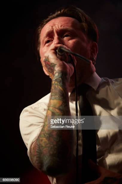 Torkjell Rod of Audrey Horne performs as support to Danko Jones at Huxleys Neue Welt on March 22 2017 in Berlin Germany
