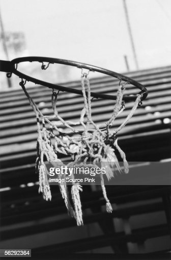 Torn basketball net : Stock Photo