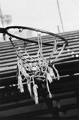 Torn basketball net