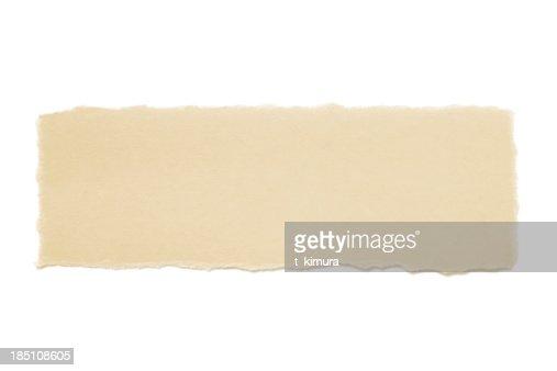Rasgado de papel marrón