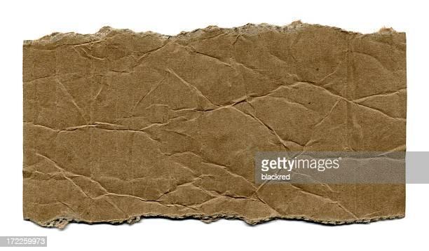 Papier déchiré en carton