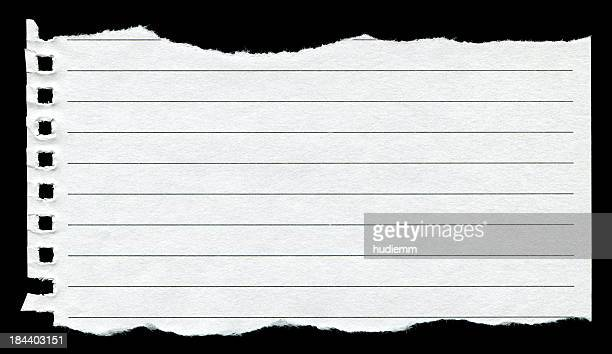 Torn Notebook Page background textured isolated (XXXL)