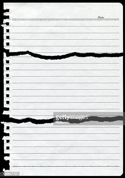 Torn Notebook Page paper background textured