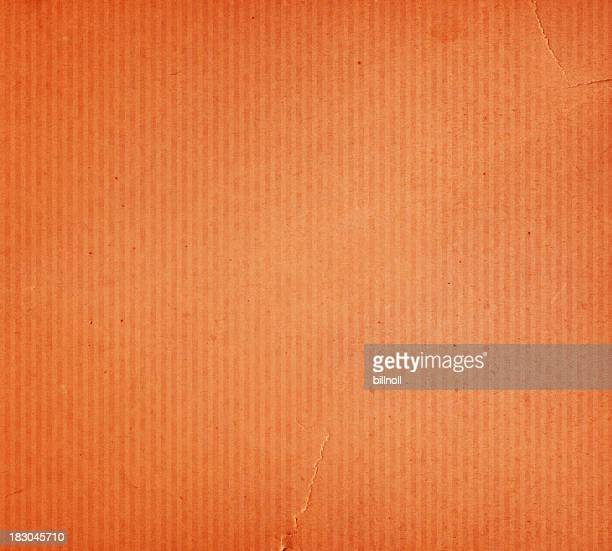torn orange paper with stripe