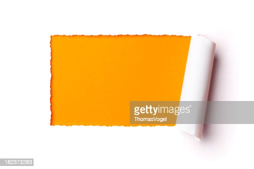 Torn 紙のフレームを選択します。破るホールのロールアップで発見