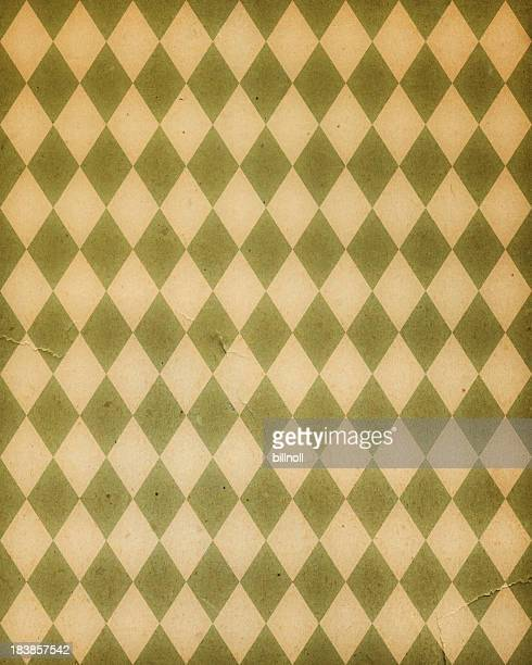 torn paper with diamond pattern