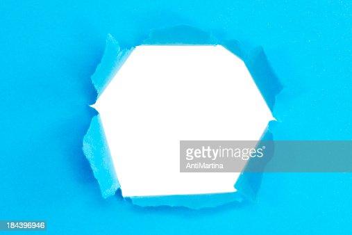 torn 紙、穴付き