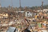 Tornado damage aftermath.