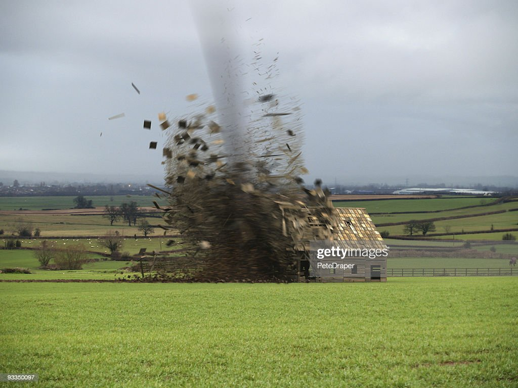 Tornado Destroying Barn (CGI)
