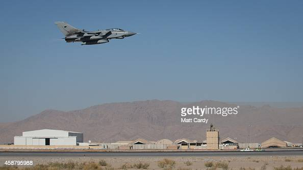 Tornado from RAF Marham's 31 Squadron takes off from Kandahar airfield completing the Squadron's final deployment to Afghanistan on November 11 2014...