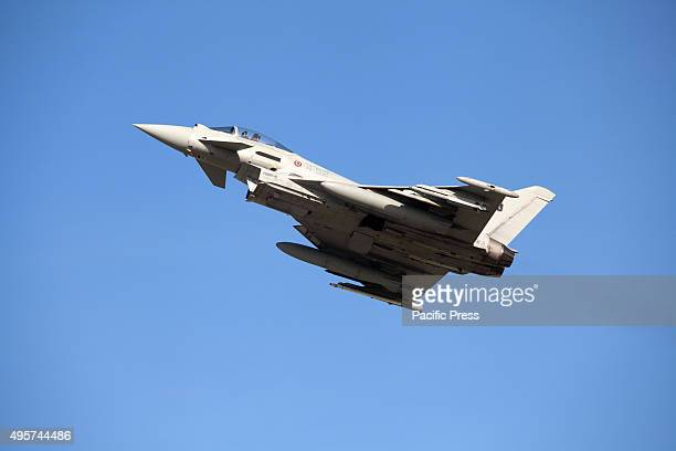 A tornado jet fighter flies during the Trident Juncture 2015 exercises at Trapani The exercise is to test Allied forces' abilities to work together...