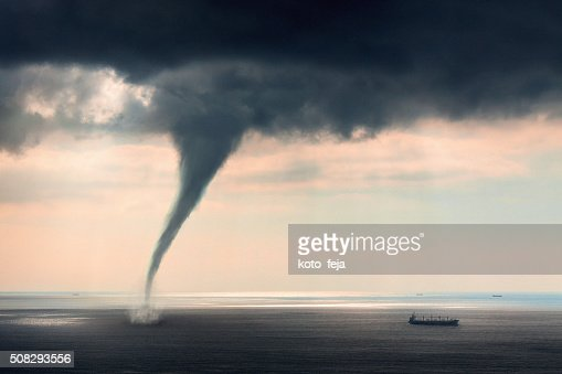 Tornado Sea Stock Photo | Getty Images