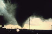A tornado strikes the landscape south of Dimmitt Texas 02 June 1995