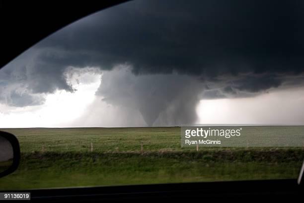 Tornado Through Car Window