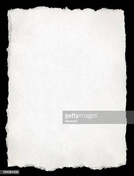 Torn-edged White Paper