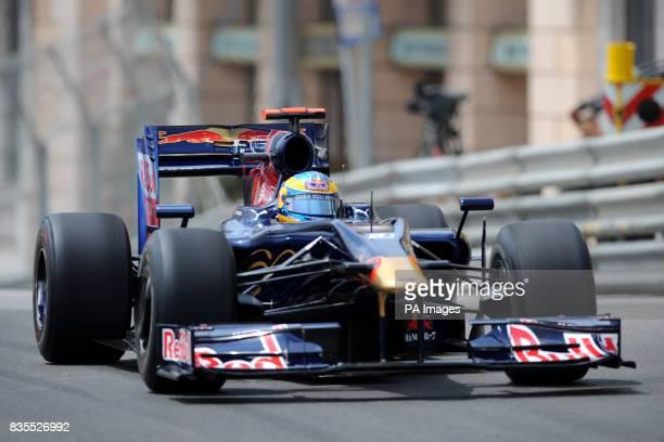 Toro Rosso driver Sebastien Bourdais during practice at the Circuit de Monaco