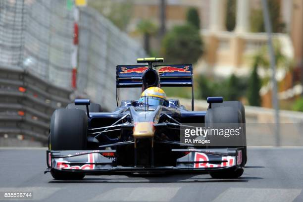 Toro Rosso driver Sebastien Buemi during practice at the Circuit de Monaco