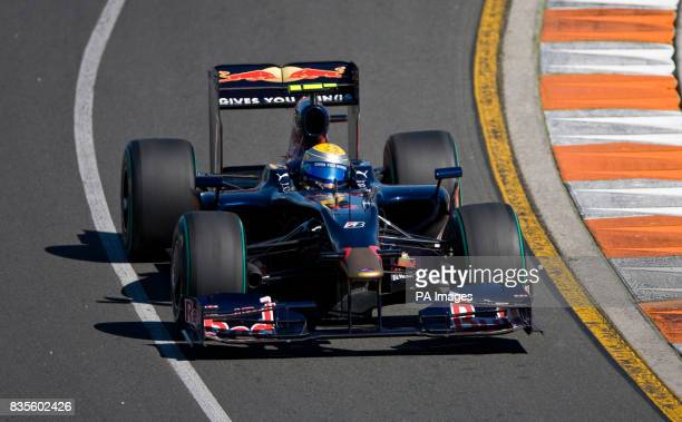 Toro Rosso driver Sebastien Buemi during the qualifying session at Albert Park Melbourne Australia