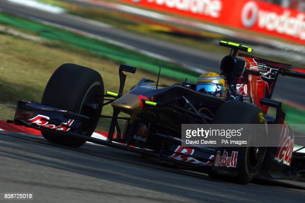Toro Rosso driver Sebastien Buemi during third practice at the Monza Circuit Italy
