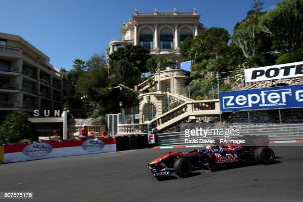 Toro Rosso's Sebastian Buemi goes round the Lowes Hairpin during practice at the Circuit de Monaco Monte Carlo