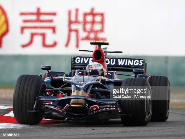 Toro Rosso's Sebastian Vettel during practice at the Shanghai International Circuit China
