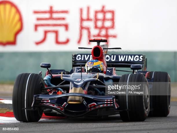 Toro Rosso's Sebastien Bourdais during practice at the Shanghai International Circuit China