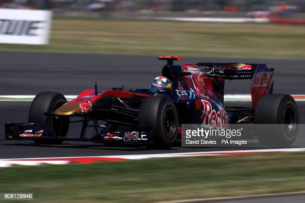 Toro Rosso's Sebastien Buemi during a practice day ahead of the Santander British Grand Prix at Silverstone Circuit Northampton