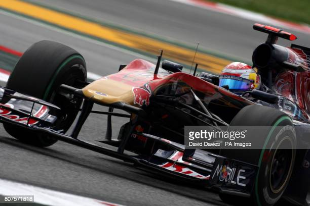 Toro Rosso's Sebastien Buemi during second practice session at the Catalunya Circuit Barcelona